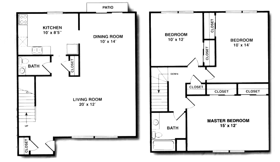Briarwood house for 2 bedroom duplex floor plans