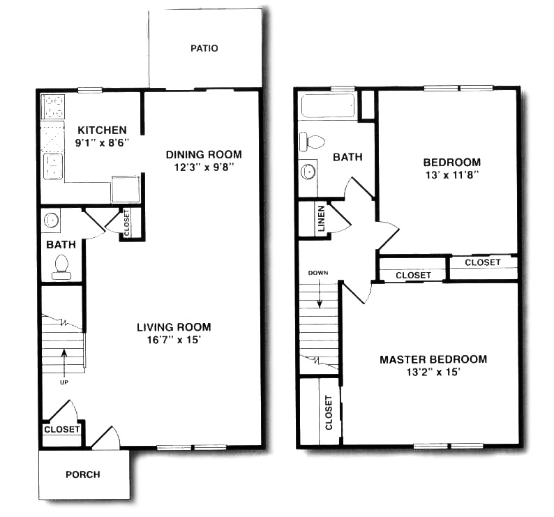 2 bedroom duplex house plans for 2 bedroom 1 bath duplex floor plans